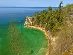 Miners Castle Overlook, Pictured Rocks National Lakeshore, Munising, Michigan, USA