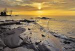 Sunset, Lake Superior, Silver City, Michigan, USA