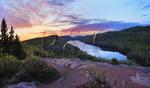 Sunrise, Escarpment Trail, Lake of the Clouds, Porcupine Mountains Wilderness State Park, Ontonagon, Michigan, USA