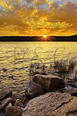 Sunset, Eagle Lake, Acadia National Park, Maine, USA
