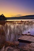Sunrise, Eagle Lake, Acadia National Park, Maine, USA