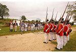 British right and Americans left, War 0f 1812 Reenactment, Jefferson Patterson Park and Museum, Saint Leonard Creek, Maryland