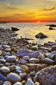 Sunrise, Blueberry Hill, Schoodic Peninsula, Acadia National Park, Maine, USA