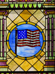 Stained Glass Window, Islesford Congregational Church, Little Cranberry Island, Maine, USA
