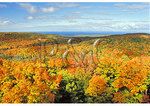 View of Lake Superior from Summit Tower, Lake of the Clouds, Porcupine Mountains Wilderness State Park, Michigan