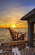 Sunset over Currituck Sound, Corolla, North Carolina, USA