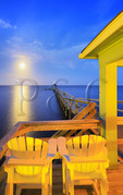 Full Moon over Currituck Sound, Corolla, North Carolina, USA