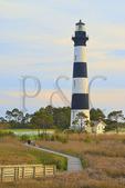 Sunset, Bodie Island Lighthouse, Cape Hatteras National Seashore, North Carolina, USA