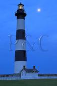 Full Moon, Bodie Island Lighthouse, Cape Hatteras National Seashore, North Carolina, USA