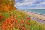Lake Superior Overlook,  Pictured Rocks National Lakeshore, Munising, Michigan, USA