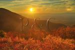 Sunset, Turk Mountain Overlook, Shenandoah National Park, Virginia, USA
