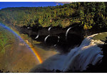 Rainbow at Middle Falls, Letchworth State Park, New York
