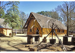 Cooking fire in the fort, Jamestown Settlement, Virginia