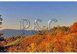 Visitor on overlook, near Brown Mountain, Shenandoah National Park, Virginia