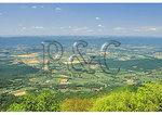 View of The Shenandoah Valley from Brushy Top, Shenandoah National Park, Virginia