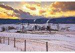 Winter Sunset, Swoope, Shenandoah Valley, Virginia