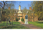 Lord Botetourt Statue and Wren Hall, The College of William and Mary, Williamsburg, Virginia