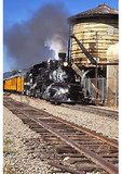 Durango to Silverton Railroad Taking On Water, Hermosa, Colorado