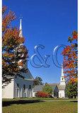 Central Meeting House and Congregational Church, Village Green, New Salem, Massachusetts