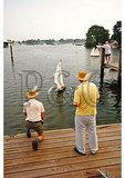 Model sailboat race, The Calvert Marine Museum, Solomons, Maryland
