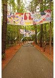 Art display over walkway, Annmarie Garden, Solomons, Maryland