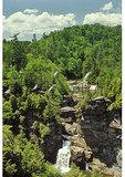 Hikers above Linville Falls, Blue Ridge Parkway, Linville, North Carolina