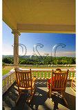 Visitor on Moses Cone Mansion Porch, Moses Cone Memorial Park, Blue Ridge Parkway, North Carolina