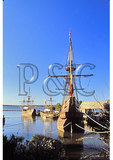 Historic Ships at Morning, Jamestown Settlement, Virginia