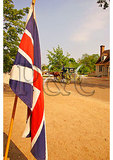 British Flag and Carriage, Historic District, Colonial Williamsburg, Virginia