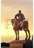 Statue of Stonewall Jackson at sundown, Manassas National Battlefield Park, Manassas, Virginia