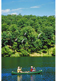 Canoers on Lake at Douthat State Park, Clifton Forge, Virginia
