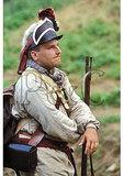 Revolutionary War, American Soldier reenactor, Battle of Point of Forks, Columbia, Virginia