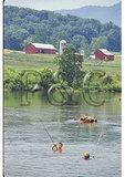 Boys fishing in the Shenandoah River, Bentonville, Virginia