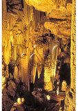 Man in Luray Caverns, Luray, Virginia
