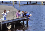 Crabbing at The Whalehead Club, Corolla, North Carolina