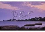 Currrituck Beach Lighthouse and The Whalehead Club at Dawn, Corolla, North Carolina