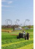 School Bus and Cutting Hay, Dayton, Shenandoah Valley of Virginia