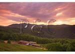 Sunrise over Orchard, Alta Pass, Blue Ridge Parkway, North Carolina