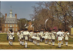 Colonial Williamsburg Fife & Drum Corps in front of the Governor's Palace, Williamsburg, Virginia
