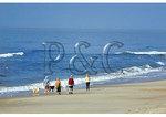 Family walking on Ocracoke Island, Cape Hatteras National Seashore, North Carolina