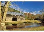 Caldwell Barn in Cataloochee Valley, Great Smoky Mountains National Park, North Carolina