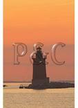 Delaware Breakwater East End Lighthouse at Sunset, Cape Henlopen State Park, Lewes, Delaware