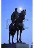 Moon and Stonewall Jackson Memorial at sundown, Manassas National Battlefield Park, Manassas, Virginia