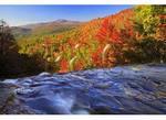 Blue Valley over Glen Falls, Nantahala National Forest, Highlands, North Carolina