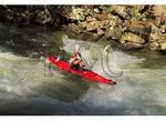 Kayaker on the Nantahala River, Nantahala Gorge, North Carolina
