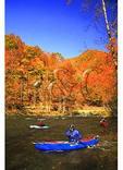 Kayakers on the Nantahala River, Nantahala Gorge, North Carolina