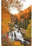 Dawn, Cullasaja Falls, Cullasaja River Gorge, Highlands, North Carolina