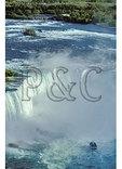 Maid of the Mist at Niagara Falls, Seen from Skylon Tower, Niagara Falls, Ontario, Canada