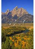 Rafters and Grand Teton From Snake River Overlook, Grand Teton National Park, Wyoming