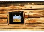 View Through Cunningham Cabin Window, Grand Teton National Park, Wyoming
